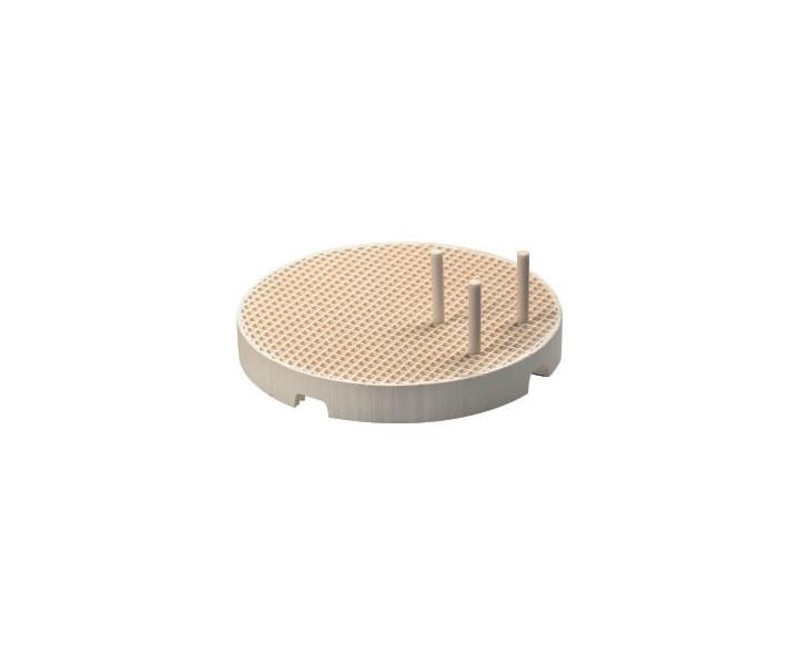 Wabenbrenngutträger mit Keramikstiften, rund