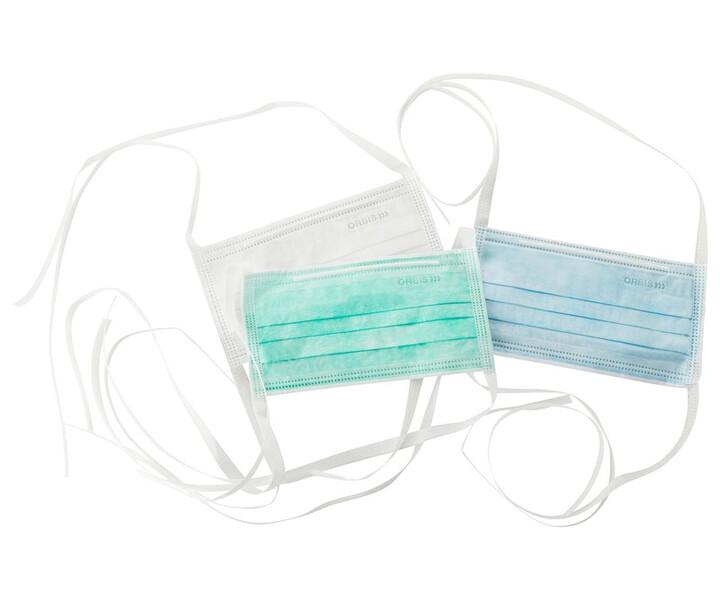 Mundschutz mit Bändern